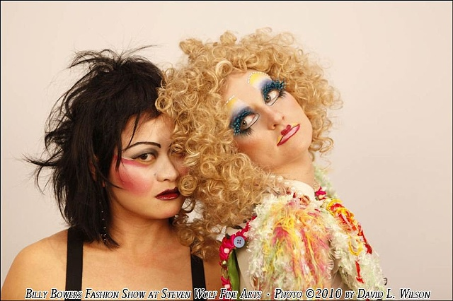 Models Linda Wang and Kegel Kater at Billy Bower's fashion show.  Photo by David Wilson
