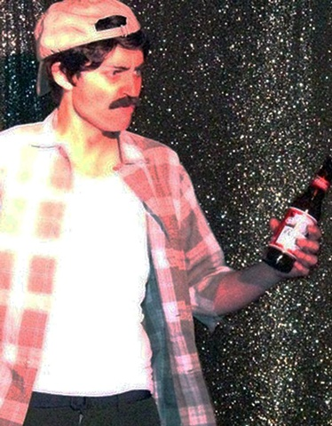 Man with Beer (drag king)