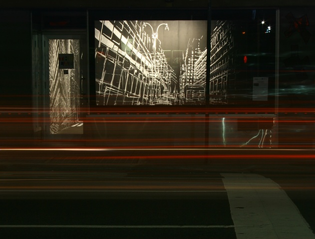 Installation Drawing - at night
