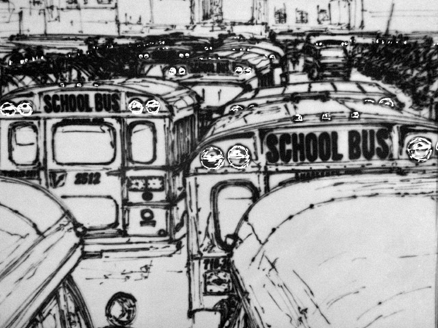 School Bus - Grey